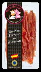 Jambon Serrano espagnol en chiffonnade Frais Devant
