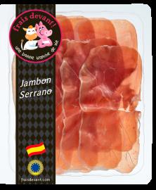 Jambon Serrano espagnol tranché Frais Devant